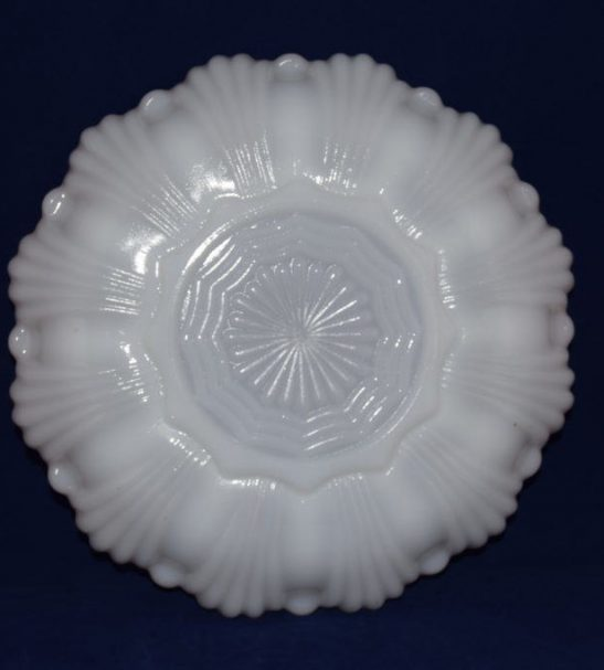Anchor Hocking Fire king white oyster egg plate