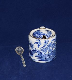 Antiques Online Burleigh-ware-blue-and-white-mustard-pot-297x330 Burleigh Ware Willow Mustard Pot