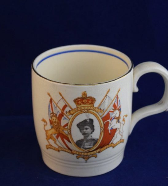Elizabeth nd coronation commemorative mug