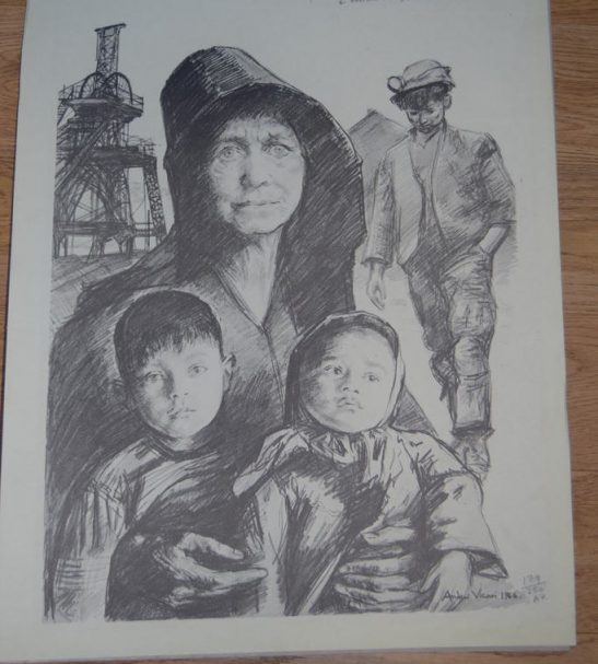 Antiques Online Andrew-Vicari-Pencil-drawing-Aberfan-2-1 Andrew Vicari Signed Print - Aberfan