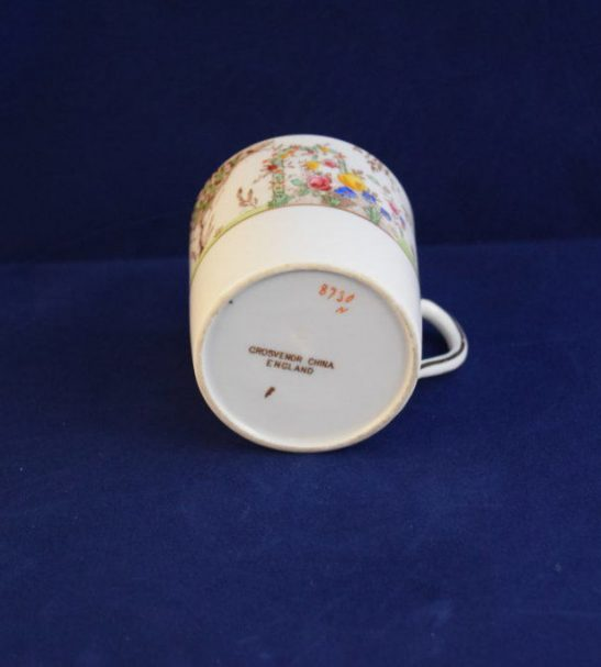 Grosvenor china coffee cup hand finshed  n