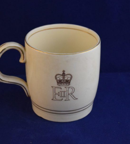 commemorative mug coronation Elizabeth