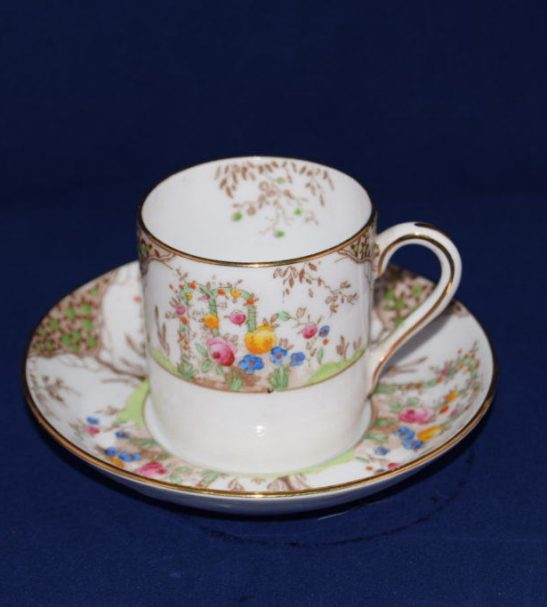Antiques Online grosvenor-coffee-cup-and-saucer-hand-finished-8730-1 Grosvenor China coffee cup and saucer