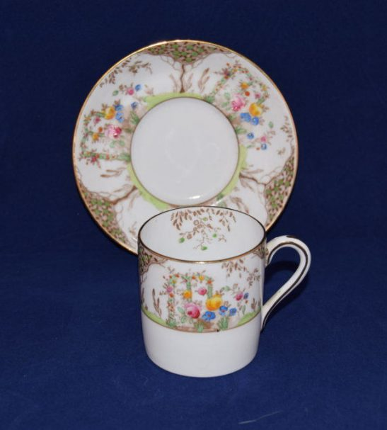 grosvenor coffee cup and saucer hand finished