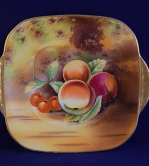 Antiques Online hand-painted-Japan-fuit-plate3-297x330 Hand painted Fruit China Plate