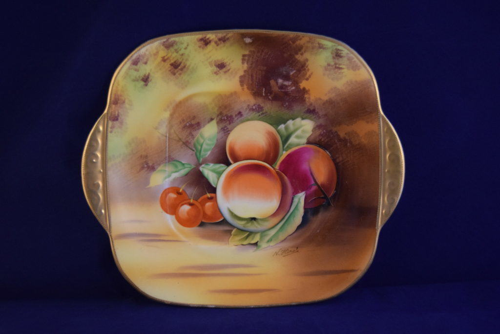 Antiques Online hand-painted-Japan-fuit-plate3 Hand painted Fruit China Plate