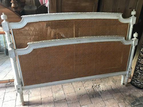 Antiques Online french-antique-cane-bed-46 FABULOUS ANTIQUE FRENCH LOUIS XVI CANE KINGSIZE BED c1900