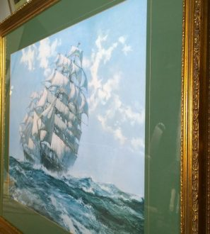 Antiques Online WP_20200316_14_08_56_Pro-297x330 Montague Dawson Ariel & Taeping Sailing Ship Tea Race Print 41""