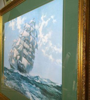 "Antiques Online WP_20200316_14_08_56_Pro-297x330 Montague Dawson Ariel & Taeping Sailing Ship Tea Race Print 41"""
