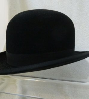 Antiques Online Bowler-1-297x330 Antique Shaftsbury Fur Felt Bowler Hat c 1915