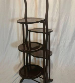 Antiques Online Tea-Stand-297x330 Antique Victorian Mahogany Folding Afternoon Tea Stand c1890