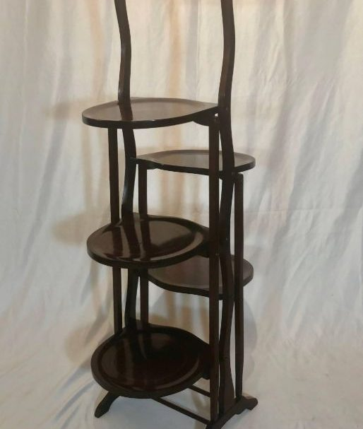 Antiques Online Tea-Stand Antique Victorian Mahogany Folding Afternoon Tea Stand c1890
